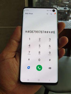 Galaxy S10 Đen 128 GB,ram 8G.Cấn góc nhẹ như hình