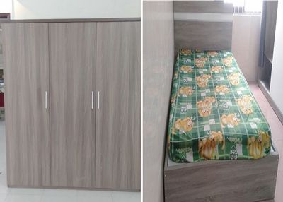 Combo giường tủ đóng mới thanh lý giá xưởng