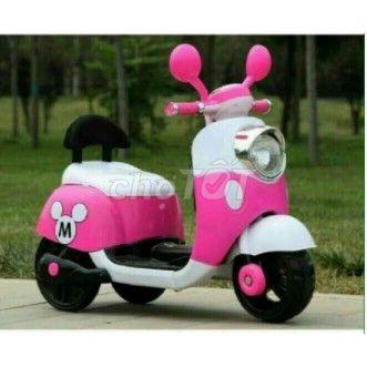 xe vecpa màu hồng cho bé mới
