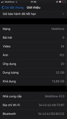 Iphone 6s lock 32g mvt hư phím home có gl