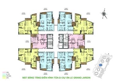 Chung cư Le Grand Jardin Sài Đồng 63m² 2PN