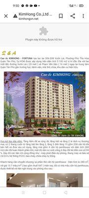 Chung cư Quận Tân Phú 87m² 3PN