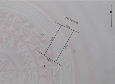 Bán 2 nền 135m2 (5x27),nhựa 4m, xã Mỹ Thọ