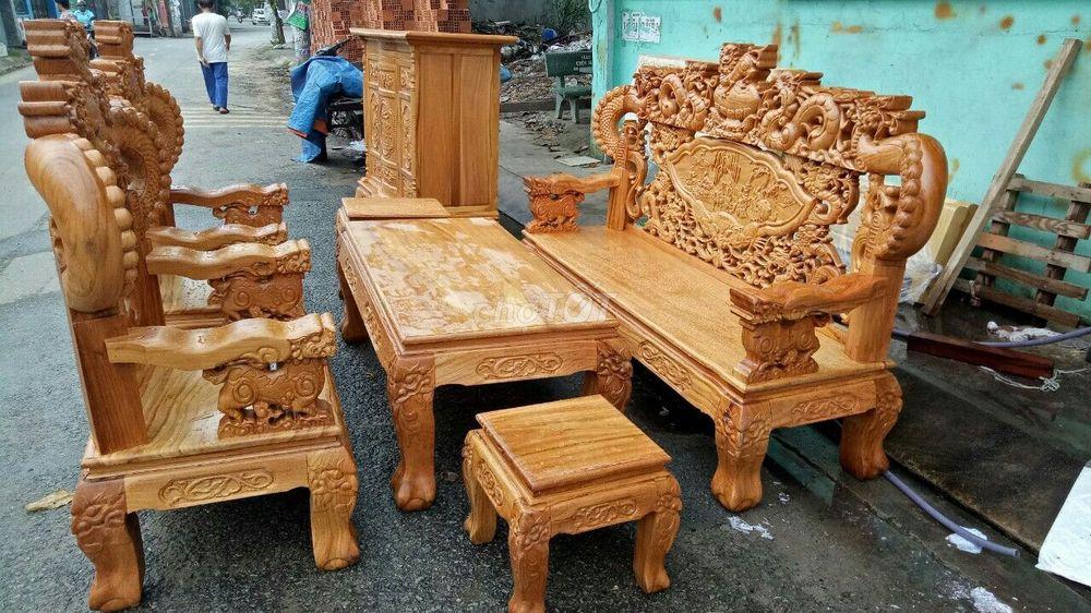 bàn ghế rồng khuỳnh tay 12 6 món