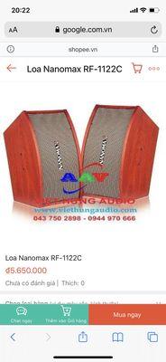 Do nâng câp nên dư cặp loa Nanomax chính hãng