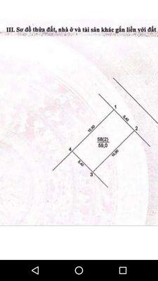 Đất có nhà 1 tầng ở  luôn đường to thôn Lại Hoàng