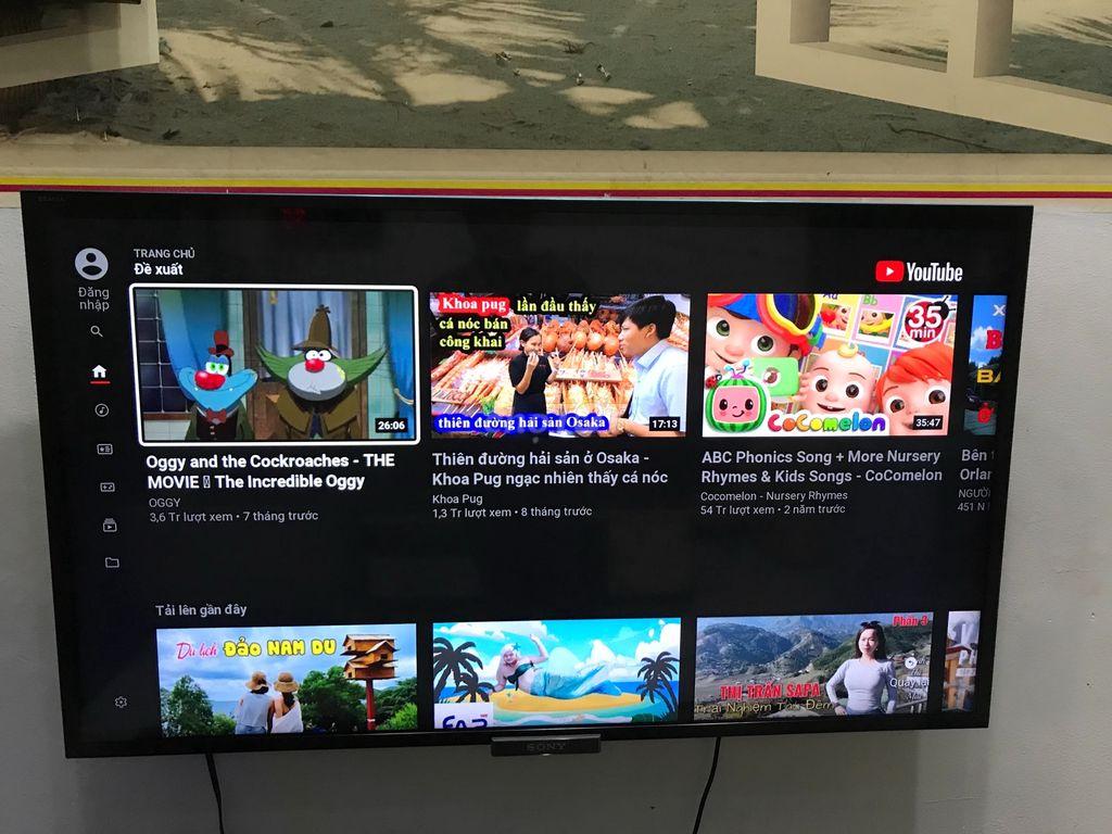 0776373674 - Tivi Sony smart 46in mong nhà sử dụng kĩ mới 90%