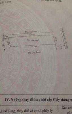 Đất Minh Kha, h An Dương lô góc 108m2 đường 5m giá