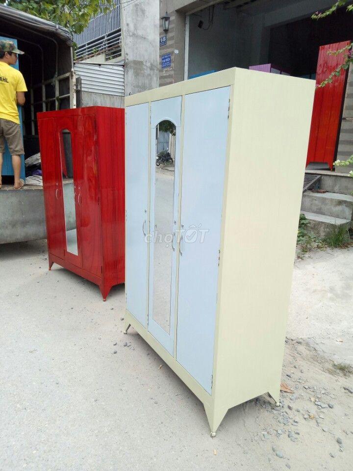 tủ sắt quần áo gia đình loại lớn 1m2_NEW FS