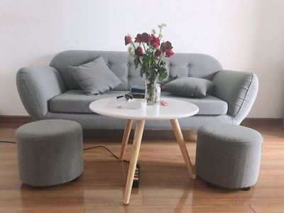 bàn ghế sofa băng hiện đại phối màu theo yêu cầu