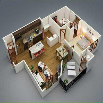 Chung cư căn hộ chung cư 80m² 2 PN