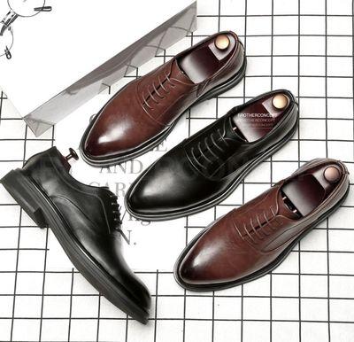 Giày tây nam Oxford SCL nâu/đen