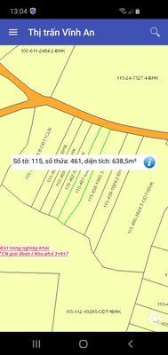 640m2 đất mặt tiền đường xe tải lớn TT Vĩnh An