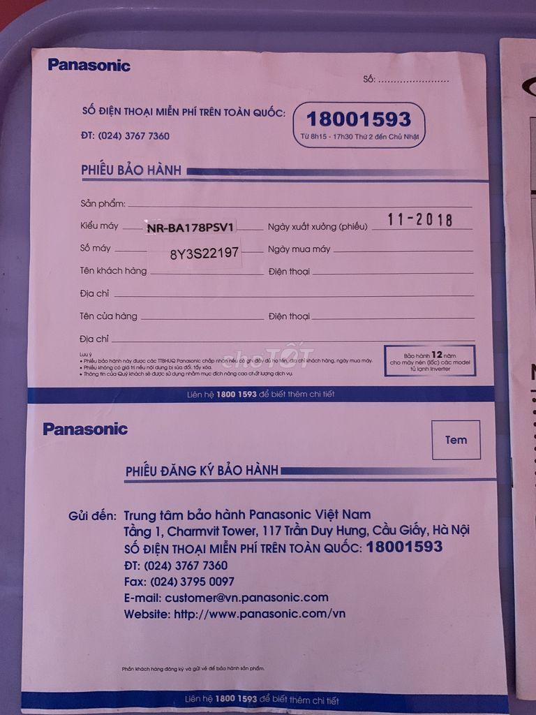 0965799537 - Tủ lạnh PANASONIC