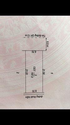 Đất Thành phố Đồng Xoài 187m² giá 580tr xd nhà phố