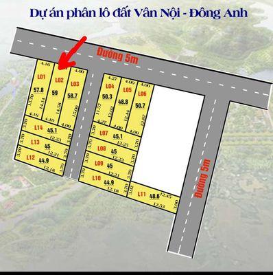 Chỉ 1.9tỷ sở hữu ngay lô đất60mđẹp tại Vân Nội - Đ