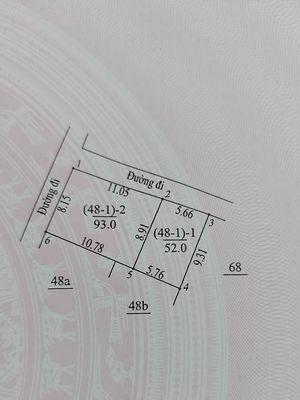 Tôi bán 52m2 đất Vân Côn, mặt tiền rộng, nở hậu.
