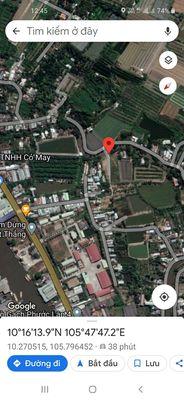 Đất thổ cư 186m2 cặp lộ đan xã Tân Bình Châu Thành