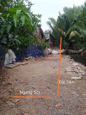 Đất 100% thổ cư 120m(5x24), đường 12m, view sông