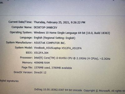 Asus VivoBook A512FA-i3-8145u-4Gb-256Gb-Xài 03Ngày