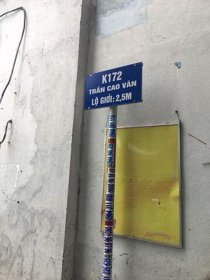 Bán đất k 172/21 đường Trần Cao Vân
