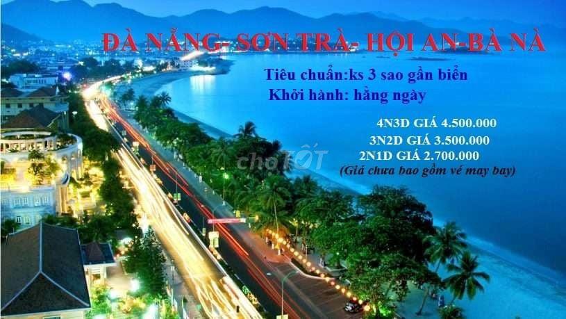 Tour Đà Nẵn-Sơn Trà-Hội An-Bà Nà