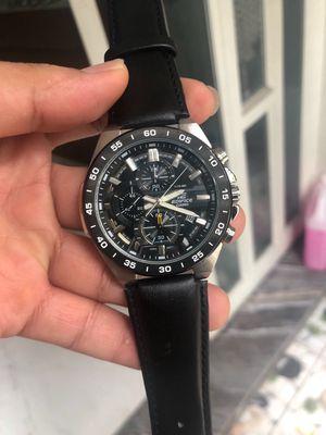 Đồng hồ casio efr 554l 1a dây da thể thao