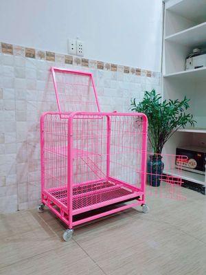 Lồng, chuồng chó mèo thỏ 2 tầng 2 cửa 65x45x73cm