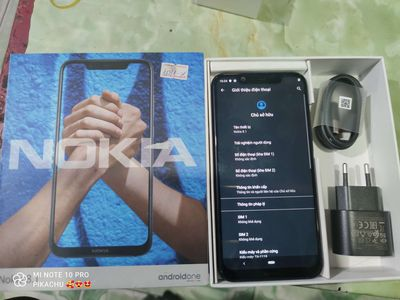 nokia 8.1 full hộp ram 4g rom 64g cpu 710 zin all