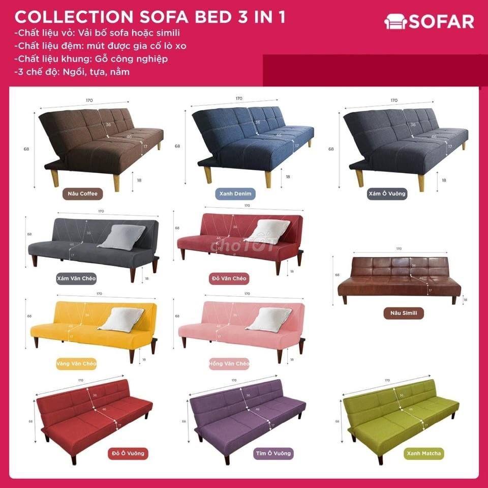 Ghế Sofa Bed kích thước 170x88cm