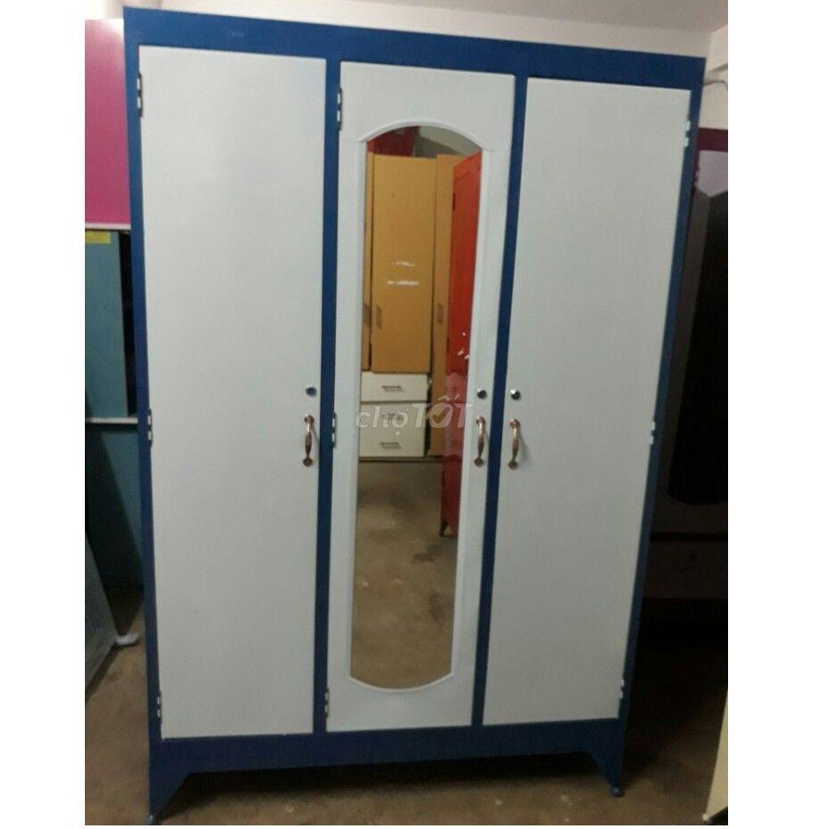 tủ sắt quần áo ngang 1m2, 2c 3c (mới 100%)