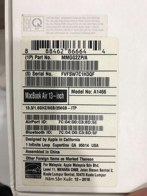 Cần bán Macbook Air 2016 i5 256GB