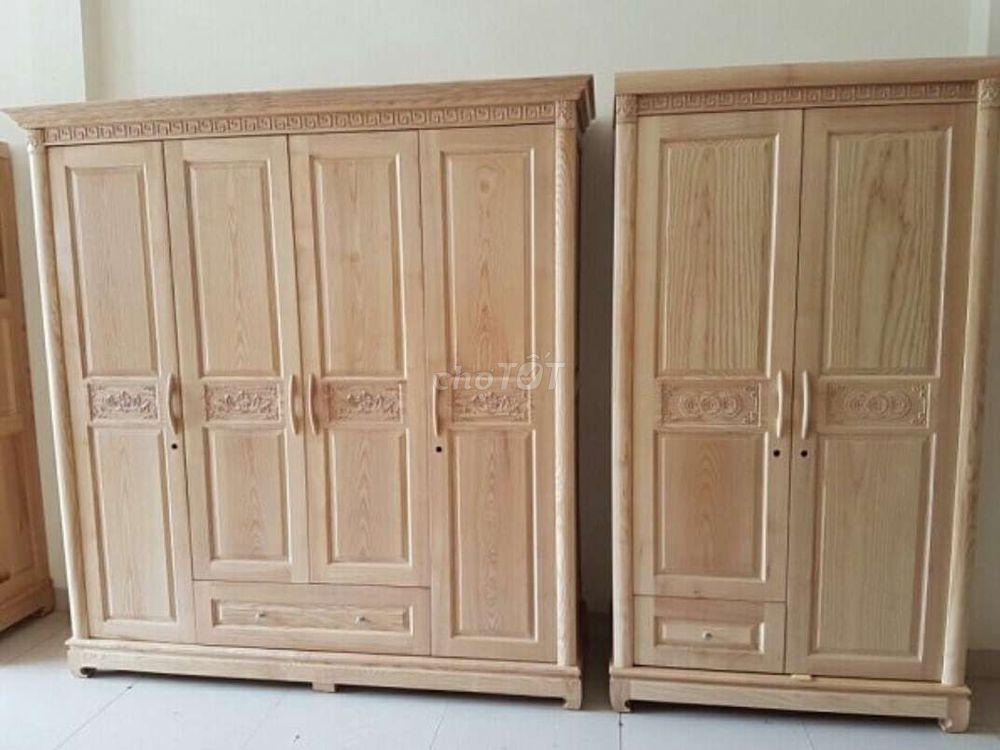 Tủ áo gỗ sồi nga đã tẩm sấy. Chống mối mọt