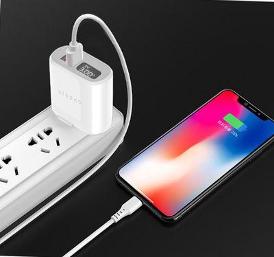 XẢ HÀNG - ạc Nhanh Cổng Kép USB Có Màn Hình LED