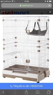 Chuồng sắt cao cấp nhập khẩu cho thú cưng