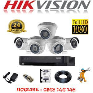 Trọn bộ 4 mắt camera 2M (1080hd)