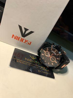 Đồng hồ nam NIBOSI-đen