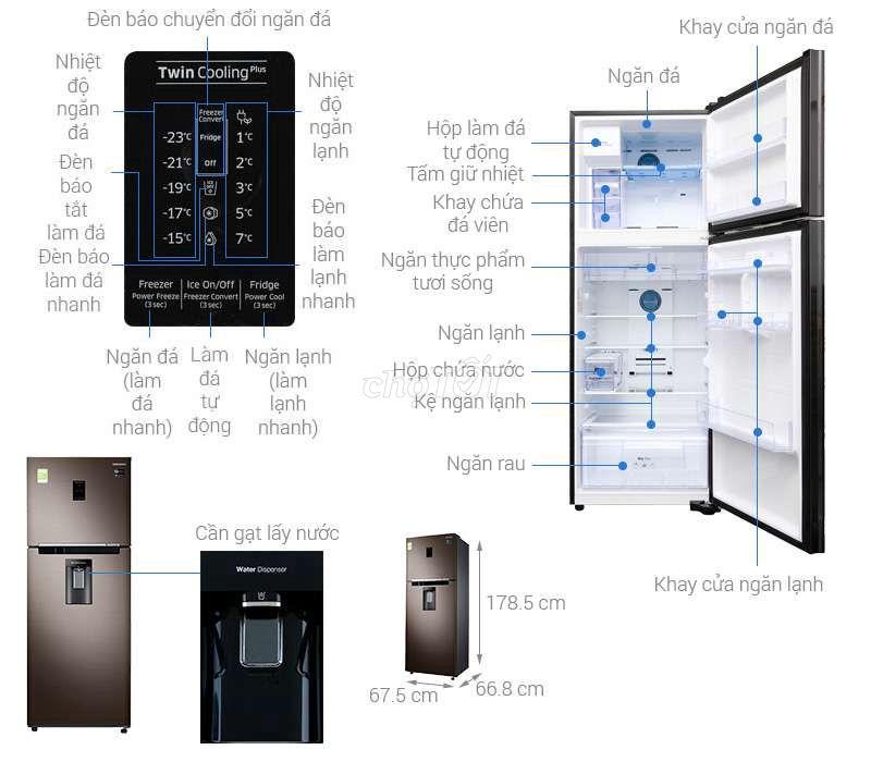 0982056595 - Tủ lạnh làm đá tự động lấy nc cửa còn BH dài