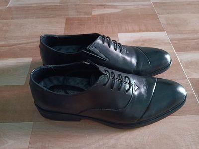 Giày tây nam Oxford đen cách điệu size 39