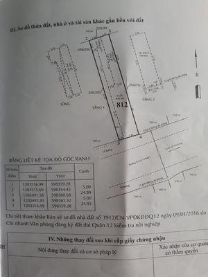 Nhà mặt tiền + dãy trọ đường ta15 q12