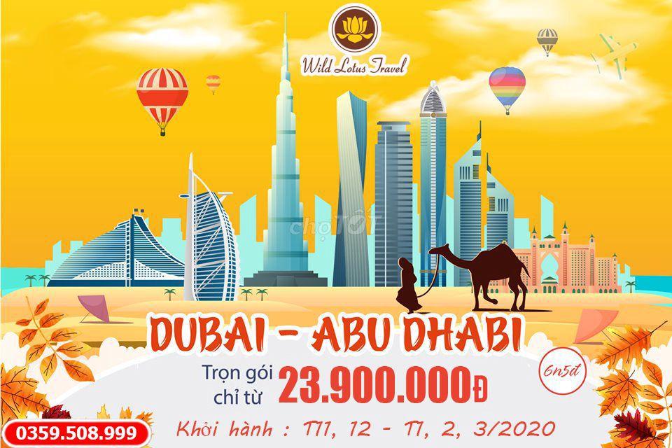 TOUR DU LICH DUBAI – ABUDHABI 6N5Đ - BAY EMIRATES