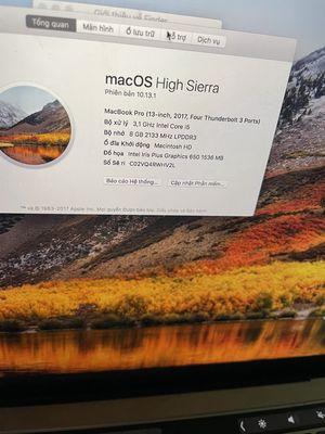 macbook pro 13. 2017 dán keo tu lúc mua