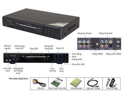 Đầu DVD Karaoke Vitek VK350 mới nguyên thùng