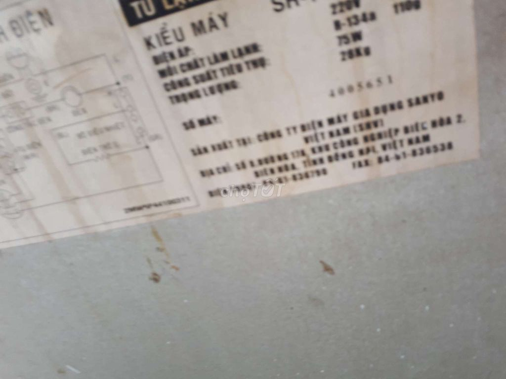 0937633696 - tủ lạnh sanyo dàn đồng 115l