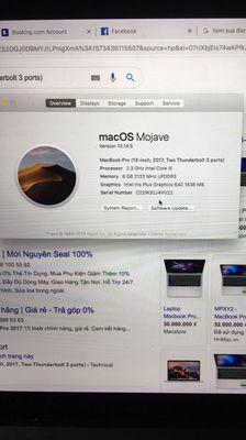 Macbook Pro 2017 8G SSD 128