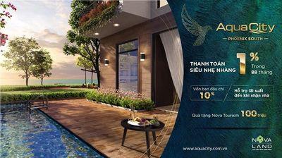 Sở hữu Aqua City 120m², thanh toán đợt 1 chỉ 840tr
