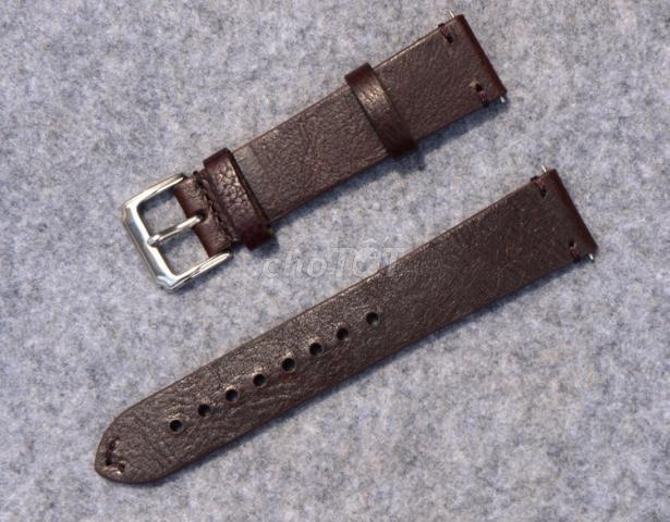 Dây đồng hồ da bò 18mm, 20mm, 22mm