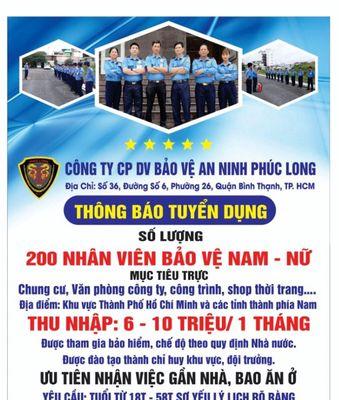 Chung Cư Tại Nhà Bè Đường LVL Cần 4 Bảo Vệ Nam Nữ