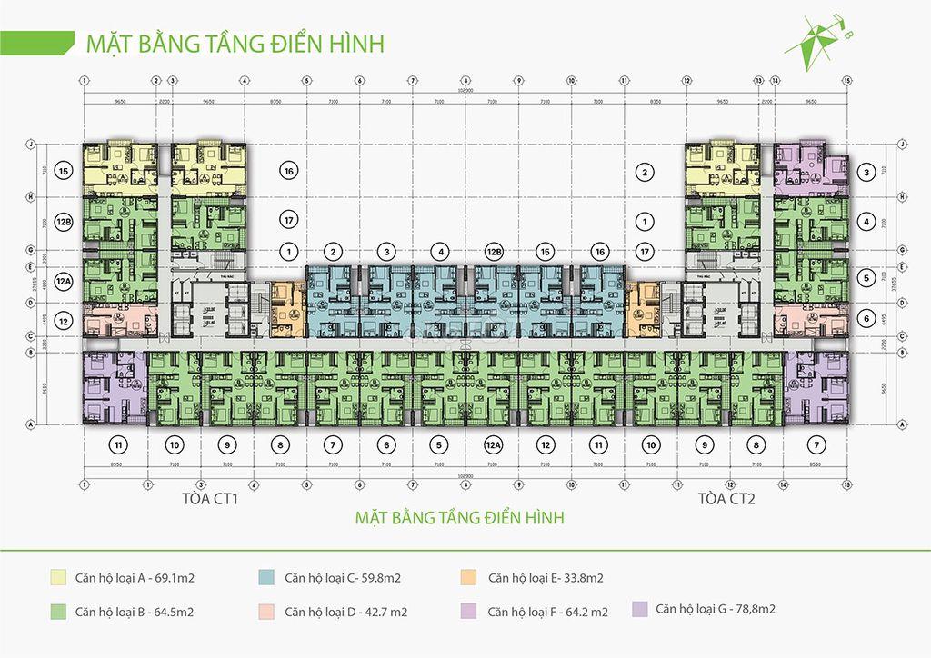 Chung cư ecolife riverside 60m² 2pn