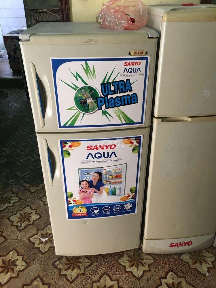 Tủ lạnh sanyou 210lit mới 85% tủ như hình máy zin